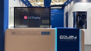 Gemeinsam mit dem Smart-Glass-Technologie-Unternehmen Gauzy stellt LG Display auf der IAA transparente 55-Zoll-LED-Panels aus.