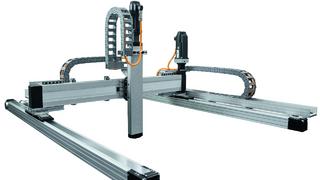 Mit der neuen digitalen Toolchain von Bosch Rexroth lassen sich Linearroboter schnell auslegen und konfigurieren.