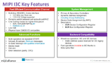 MIPI I3C Key Features