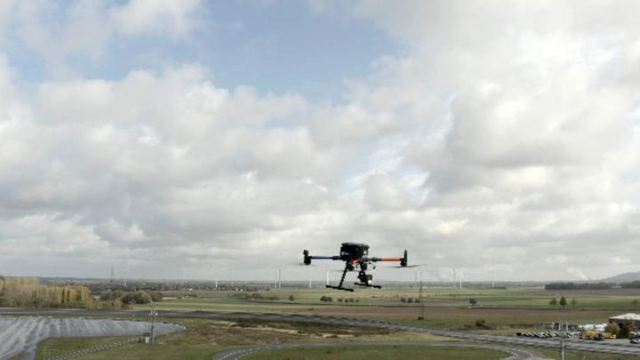 Eine Drohne im Einsatz.