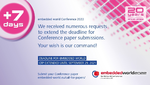 Call for Papers extended until Sep 29