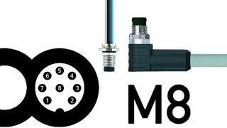 8-polige M8-Steckverbinder