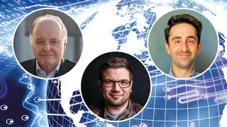 Dr. Gunther Kegel, ZVEI, Dr. Andreas Nauerz, Bosch.IO und Alexander Richter, DB Systel.