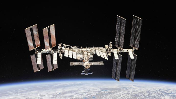 Die Internationale Raumstation (ISS).