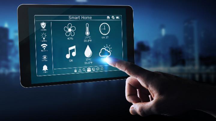 Smart Home und Beleuchtung, Tablet