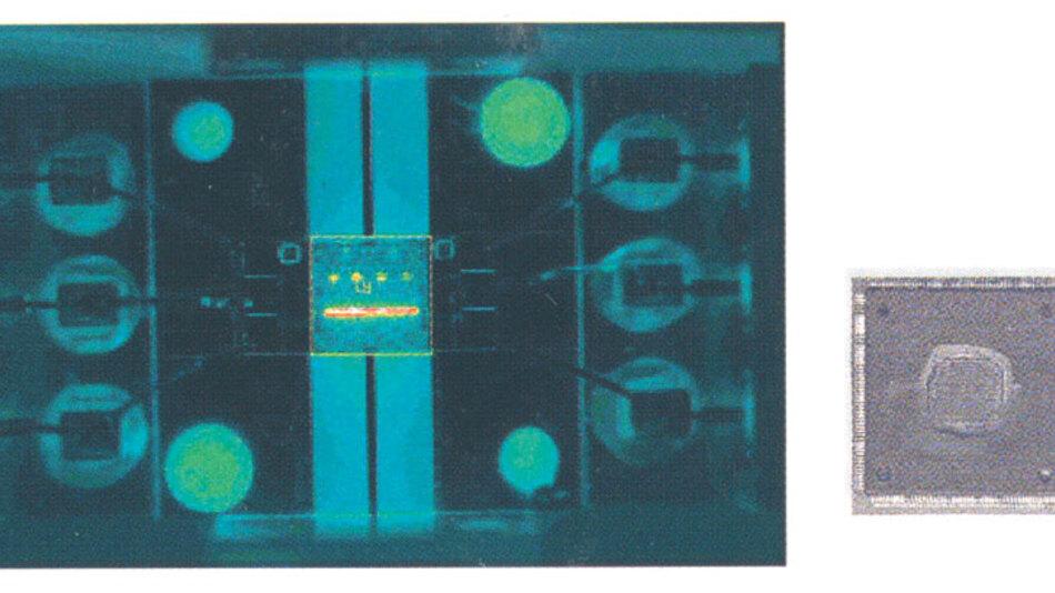 Bild 1. Ein Angreifer kann das Die eines nicht-flüchtigen Bausteins aus dem Chipgehäuse herauslösen und die Sicherheitsbits mit Wärmebild-Verfahren finden.