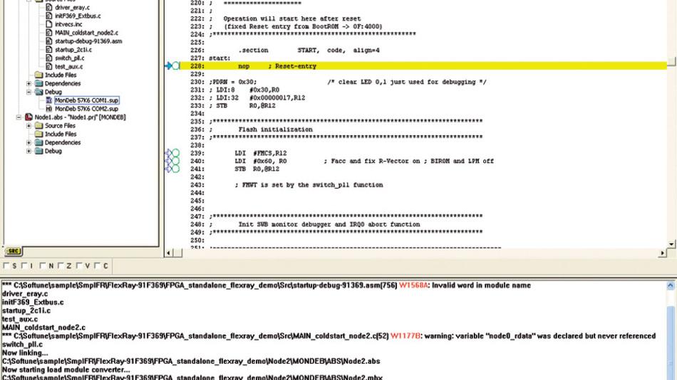 Bild 1. Die Softune IDE dient zum Laden, Editieren und Übersetzen der enthaltenen Beispiel-Applikationen. Die Installation erfordert allerdings einen Internetzugang.