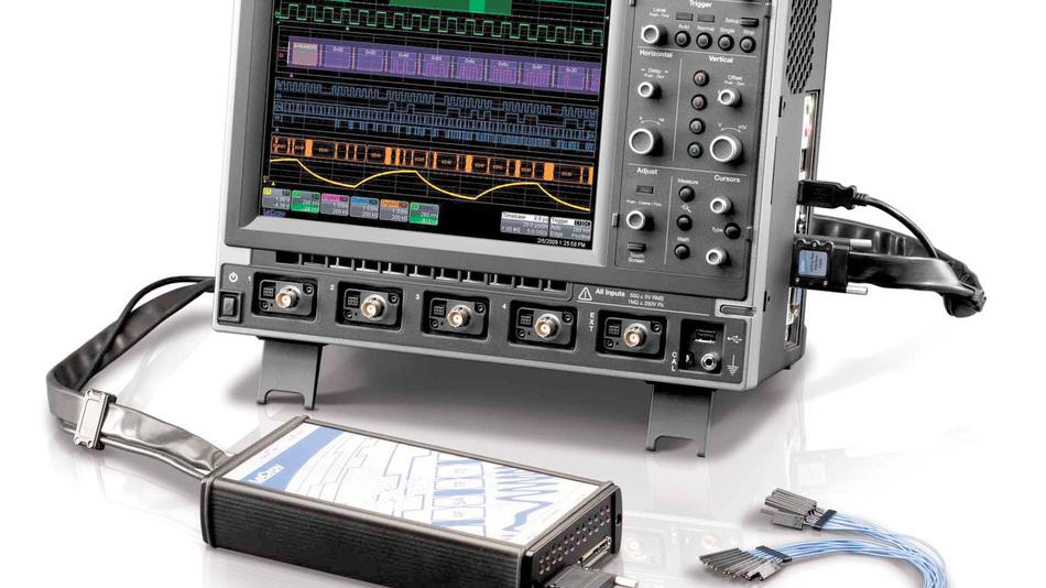 Bild 1. Vier analoge plus 18 Digital-Kanäle können die MSOs der Serie Xs-A auf ihren beachtlich  großen Bildschirmen darstellen.