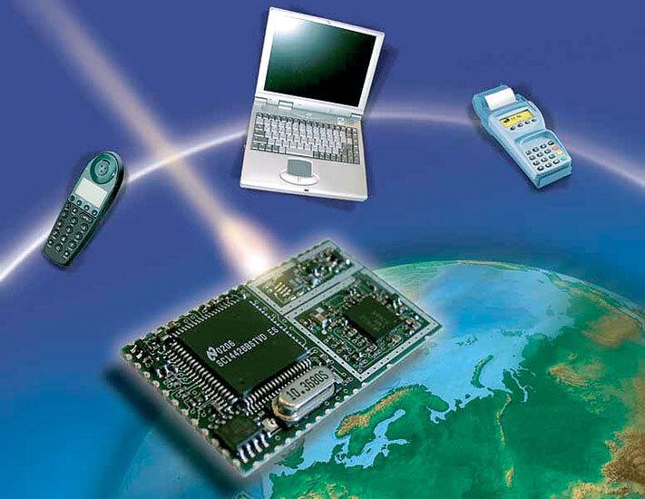 """Bild 3. Das """"Cordless Voice Module"""" (CVM) integriert auf einem einzigen Board einen Funk-Transceiver gemeinsam mit einem Basisband-Controller und einem kompletten Protokollstack. (Foto: National Semiconductor)"""