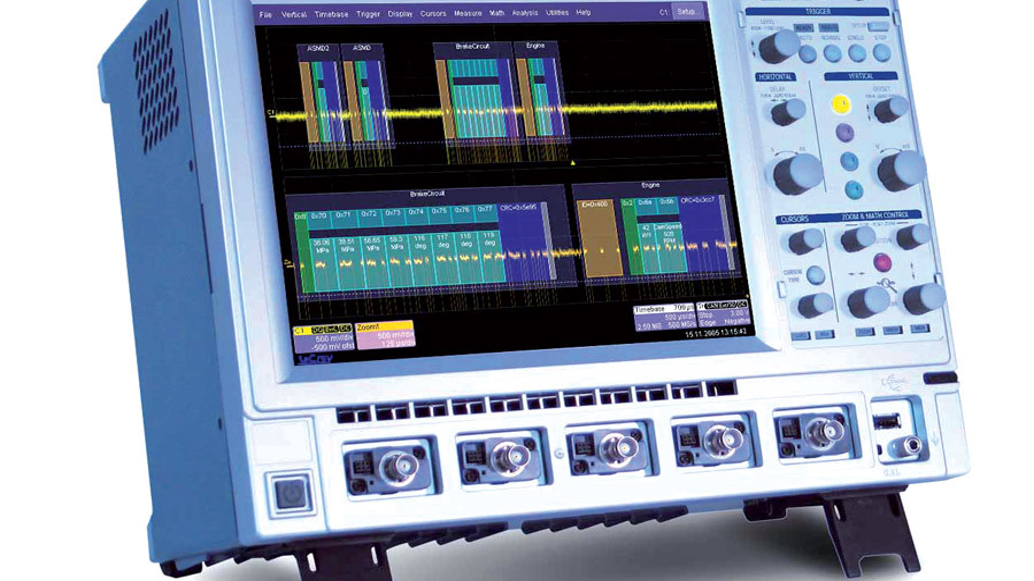 Bild 3. Die Vehicle Bus Analyzer 44Xi und 64Xi auf Basis der WaveRunner-Xi-Oszilloskope erlauben umfangreiche Analysen am CAN-Bus. (Foto: LeCroy)