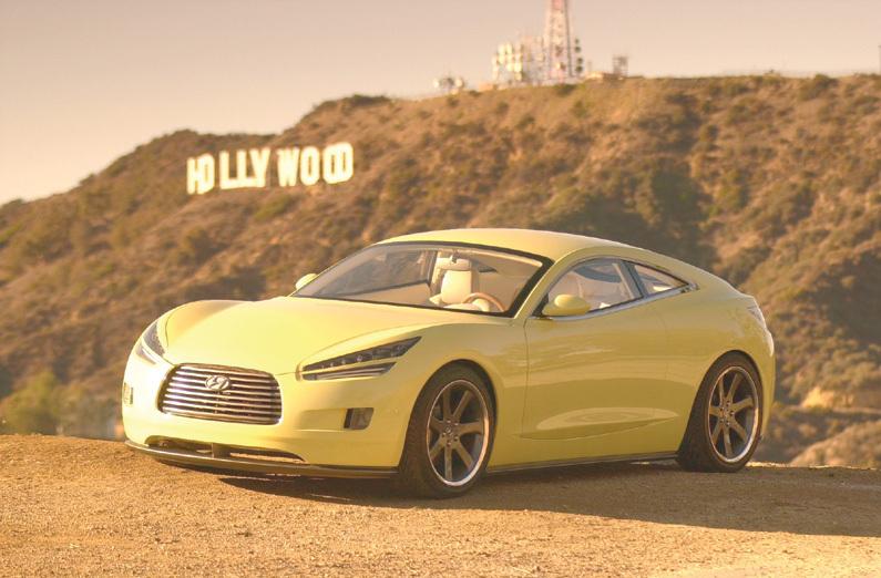Bild 1. HCD-8 Konzeptfahrzeug mit LED-Frontscheinwerfern und Treibern von Supertex Inc. (Foto: Hyundai Motor Corp.)