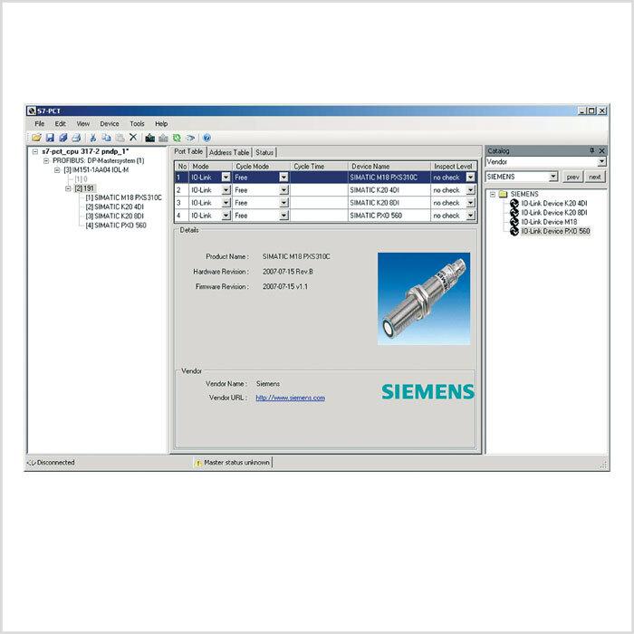 Bild 2: IO-Link ermöglicht jetzt die benutzerfreundliche Sensor/Aktor-Parametrierung mit einem zentralen Engineeringtool.