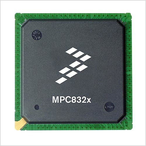 """Bild 1. Der Gateway-Chip MC8323 aus der PowerQUICC-Prozessor- Familie bietet den Übergang von der PCI-Schnittstelle zu den Standards der """"letzten Meile"""": DSL, WiMAX, PON (Passive Optical Network), Ethernet und Wireless LAN. (Foto: Freescale)"""