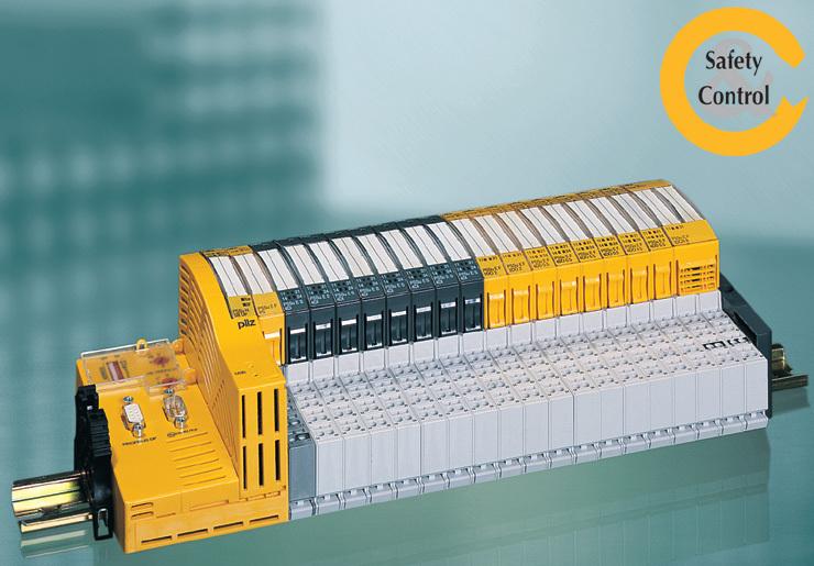 """Bild 1. Das modular aufgebaute Steuerungssystem """"PPSuniversal"""" kombiniert Steuerungs- und """"Safety""""-Funktionen in einem System auf der Basis des CAN-Busses. (Bild: Pilz)"""