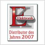 Elektronik-Leserwahl zum »Distributor des Jahres 2007«