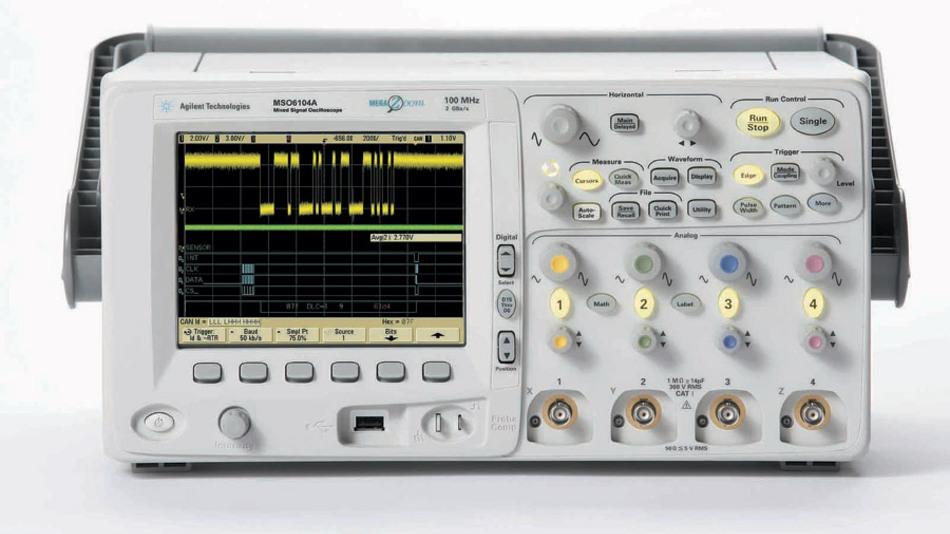 Bild 1. Die Mixed-Signal-Scopes der Serie 6000 gibt es jetzt auch mit einer CAN-/LIN-Decodier-Option zur Kfz-Bus-Diagnose. (Foto: Agilent)