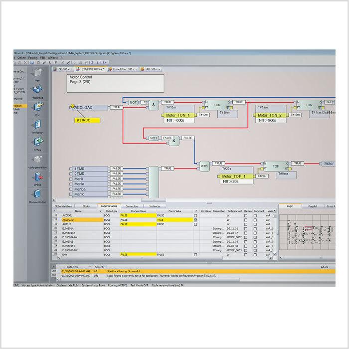Bild 4: In punkto Bedienbarkeit wartet das neue Safety-Konzept mit einer IEC-61131-3-konformen, intuitiven Bedienoberfläche mit vollgrafischer Drag-&-Drop-Programmierung und Offline-Simulation auf.