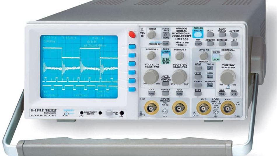Bild 8. Digital und analog kombiniert – für viele messtechnischen Anwendungen das Richtige: das Combiscope. (Foto: Hameg)