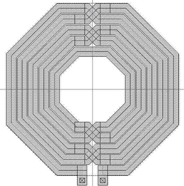 Bild 1 Layout der mehrlagigen Induktivitätsspule
