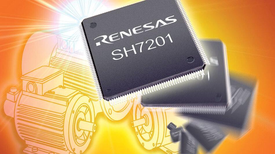 Bild 1. Ein Mikrocontroller mit speziellen Schnittstellen für die Ansteuerung von dreiphasigen Gleichstrommotoren ist mit einer leistungsfähigen 32-bit-RISC-CPU für die Realisierung hochwertiger Systeme geeignet.   (Bild: Renesas)