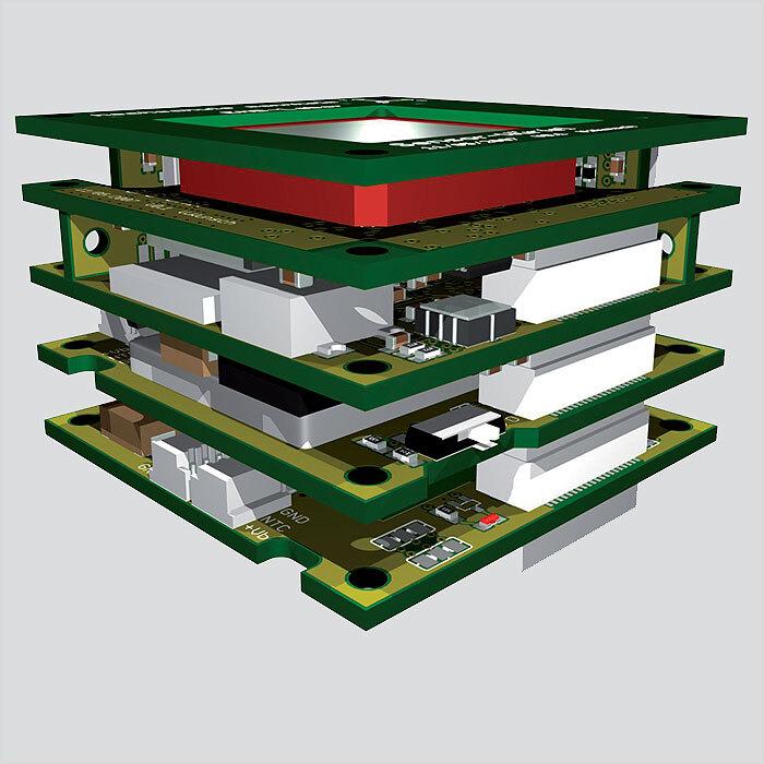 Bild 1: Sensorplattform in Würfelform zur kombinierten satellitenunabhängigen und satellitengestützten Navigation