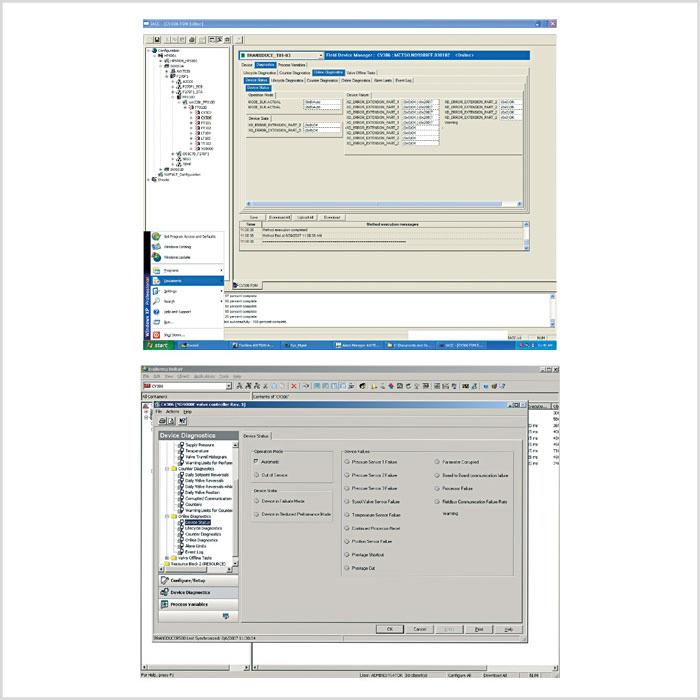 Interpreter bei der Arbeit: Die eEDDLbasierte Darstellung von Diagnose-Informationen eines Stellungsreglers kann in verschiedenen Host-Systemen völlig unterschiedlich sein.