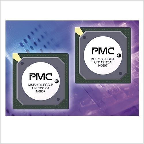 """Bild 3. Im Zentrum der Gateway-Chips """"MSP7120"""" und """"MSP7130"""" arbeitet ein 32-bit- Mips-Prozessor, als ADSL-Modem wird das """"Stati- PHY2+"""" von Aware implementiert. (Bild: PMC Sierra)"""