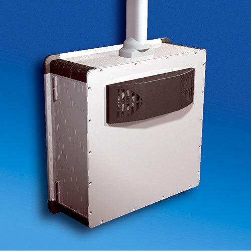 Bild 2. Durch den vibrationsarmen Betrieb und das geringe Gewicht ist der Thermoelectric Cooler auch für Tragarmsysteme geeignet. Durch den Einbau in das Gehäuse trägt das Kühlgerät nur wenige Millimeter auf und stört die Bewegungsfreiheit nicht.