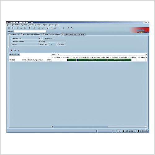 Optimierung per Drag & Drop: Die Aufträge lassen sich bei der Fertigungsplanung entlang des Zeitstrahls verschieben. Dabei werden alle relevanten Auftragsdaten im ERP automatisch mitgeführt.