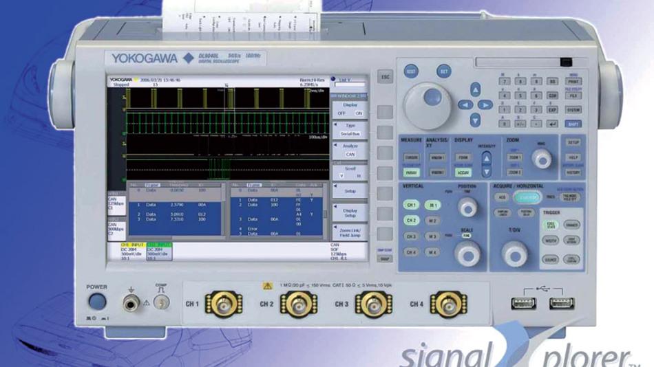 Bild 4. Auch mit CAN-Analyse-Optionen erhältlich: Scopes der DL-9000-Reihe. (Foto: Yokogawa)