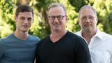 Sandro und Ludwig Leinzinger mit Volker Denkhaus von Toolhouse