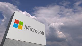 Microsoft-Logo vor Wolken