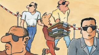LANline-Cartoon Datensicherheit