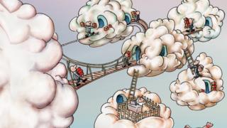 LANline-Cartoon Multi-Cloud