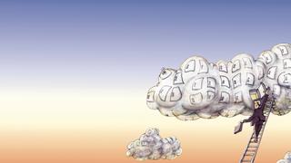 LANline-Cartoon Sicherer Cloud Storage