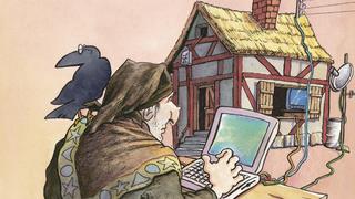 LANline-Cartoon Home-Office