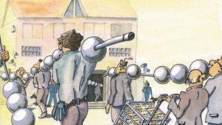 LANline-Cartoon KI im IT-Betrieb