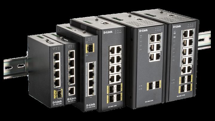 D-Link DIS-100G-Serie + DIS-300G-Serie Kombinationsbild L(Side)