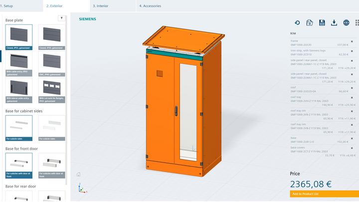 Neuer grafischer 3D-Konfigurator vereinfacht Planung von Schaltschränken / New graphical 3D configurator simplifies the planning of control cabinets